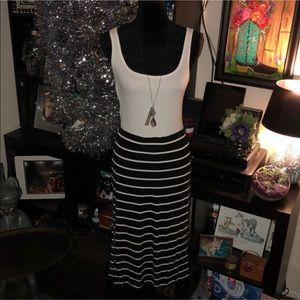 Apt. 9 Black & White Striped Pencil Skirt